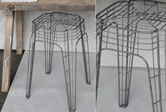 Square Wire Stool, Set of 2 - The gorgeous square stool is almost too good looking to sit on!! The curvy detailing in the shape & grid work of the wire make this industrial style stool as attractive as it is useful. Perch on it yourself or use it as a plant stand or small side table.