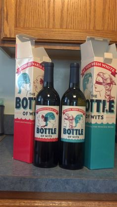 The Princess Bride wine bottles
