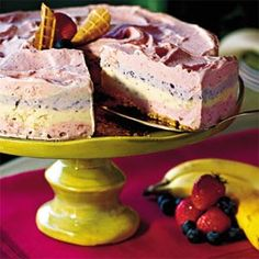 Strawberry Smoothie Ice-Cream Pie Recipe
