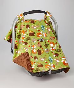 Look at this Lolly Gags Brown & Green Forest Car Seat Canopy on today! Cozy Cover, Woodland Decor, All Things Cute, Baby Things, Seat Covers, Future Baby, Canopy, Baby Car Seats, Mason Jars