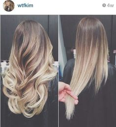 Blonde ombre hair. Want my hair like this for when I go to oregon this summer!!