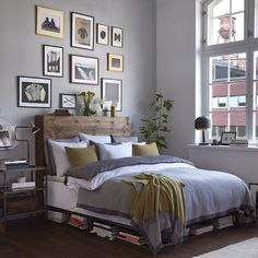 This headboard may be more practical than our current one. Should be pretty easy to add the sides.