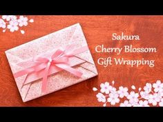 Japanese Gift Wrapping ~Kimono Style with a Heart Shaped Message Card~ - YouTube