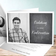 Einladungskarten Konfirmation - Konfirmationseinladungen selbst gestalten