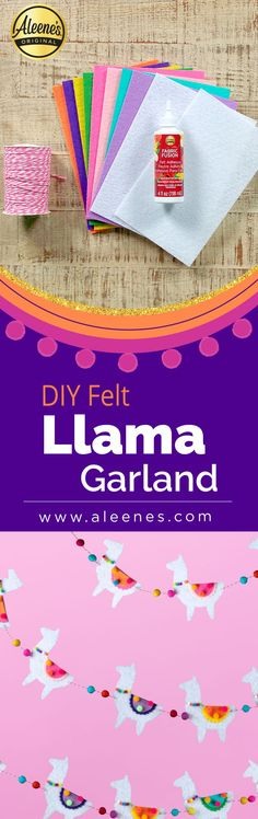 There's a reason llamas are popular in designs, decorations and even wedding themes these days . Glue Crafts, Fabric Crafts, Quick Crafts, Crafts For Kids, Llama Llama, Sewing Projects, Diy Projects, Diy Garland, Classroom Crafts