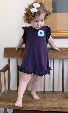 Vintage Pollyanna: Toddler Ruffle Dress from Upcycled T-shirt