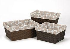 Giraffe Collection Basket Liners by Sweet Jojo Designs, Multi