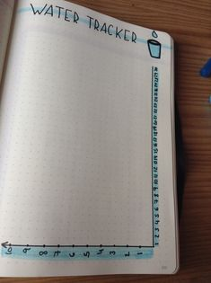 Water tracker - Bullet Journal