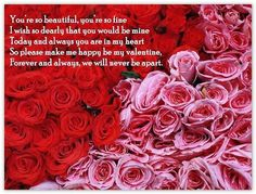Valentines day messages for girlfriend 2018 are the messages for the lovers who want to wish their girlfriends. Valentine's day messages for girlfriend Valentines Day Messages, Valentines Day Greetings, Happy Valentines Day, Valentine Quote, Valentine Cards, Red And Pink Roses, Pink Rose Flower, Yellow Roses, Beautiful Flowers Pictures