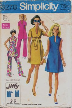Vintage 60s Simplicity Jiffy Pattern 8278 Womens by CloesCloset, $11.00