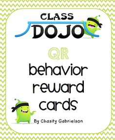 CLICK the PIC I thought I& share this with everyone! I created Class Dojo themed QR behavior cards to use with the kiddos. Class Dojo Rewards, Behavior Incentives, Classroom Rewards, Student Behavior, Classroom Ideas, Classroom Teacher, Teacher Tools, Classroom Resources, Future Classroom