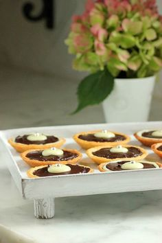 orange dark chocolate tartes