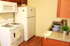 A kitchen in the dorms of CSULA