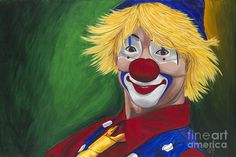 Hello Clown Painting by Patty Vicknair - Hello Clown Fine Art Prints and Posters for Sale