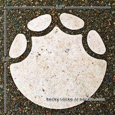"Elephant Footprint 10"" x 10"" photograph Outline Free Global Shipping Detroit Zoo Royal Oak Michigan"