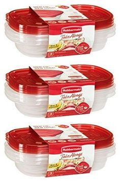 Rubbermaid Take Alongs Food Storage Container 4-Cup Rectangle Set of 9
