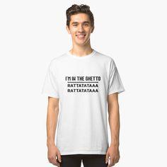 """""""Iss, schlaf, angel"""" T-Shirt von diemar T Shirt Fun, Look T Shirt, My T Shirt, V Neck T Shirt, Graphic T Shirts, Photo Vintage, Vintage T-shirts, Design T Shirt, Shirt Designs"""