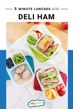 Easy and fresh school lunches ideas with ham that you can pack for the week! Recipes Using Ham, Real Food Recipes, Healthy School Lunches, Healthy Snacks, Healthy Eats, Family Meals, Kids Meals, Veggie Cups, Apples And Cheese