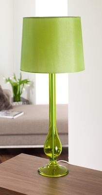 New fluoro fringe lime green table lamp let there be light green table lamp mozeypictures Image collections