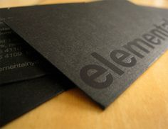 elemental #businesscard #design - love this at #rockcandymedia