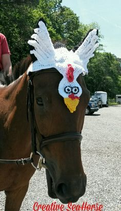 Chicken ear bonnet fly bonnet for your horse by CreativeSeaHorse