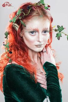 Garden Fairy Makeup Inspiration 40 Ideas For 2019 Elf Makeup, Fairy Makeup, Costume Makeup, Makeup Art, Rave Makeup, Mermaid Makeup, Looks Halloween, Cool Halloween Makeup, Costume Halloween
