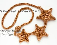 Kit di perline Pendente Starfish in malva scuro