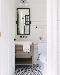 Bathroom Tile Ideas - powder room