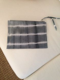 Beautiful leather tie dye clutch. A gift from a lovely friend.