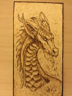 Pyrography Dragon