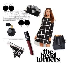 """blacky black"" by maria-cezara-1 ❤ liked on Polyvore featuring Converse, NARS Cosmetics and N°21"