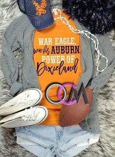 eedb2956 Auburn Fight Song Shirt, War Eagle win for Auburn Power of Dixieland Shirt,  Auburn Football T-Shirt, Ladies College Football Shirt- Tshirt