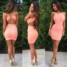 : New 2014 Vestidos Summer New Fashion Women mini Bodycon Bandage Dress Celebrity Midi Casual Backless Dress Hoco Dresses, Tight Dresses, Homecoming Dresses, Sexy Dresses, Cute Dresses, Fashion Dresses, Cute Outfits, Mini Dresses, Prom Gowns