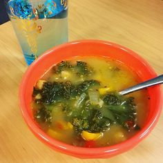 Enjoying my leftovers. Today's crappy weather gives a great backdrop for a nice soup at my desk. #stayingin