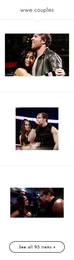 """""""wwe couples"""" by angellynn02 ❤ liked on Polyvore featuring dean ambrose, manips, wwe, jewelry, rings, rose ring, rose jewelry, pin jewelry, wwe couples and john cena"""