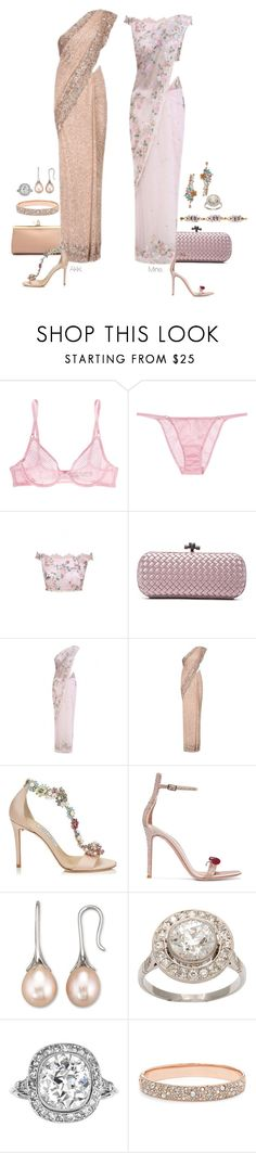 """""""Chitta."""" by foreverforbiddenromancefashion ❤ liked on Polyvore featuring L'Agent By Agent Provocateur, Marchesa, Bottega Veneta, Jimmy Choo, Gianvito Rossi, Elie Saab, W Collection, FOSSIL and Retrò"""