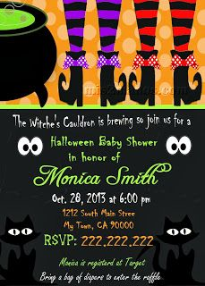 Halloween Baby Shower Invitation Pumpking Baby Shower Invites Mom-to-Be Party Invitations Printable DIY