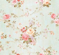 Blue Dijon Floral Wallpaper, SBK26077