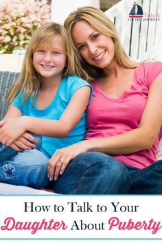 Tweens notice changes happening in their bodies. They may be getting an occasional pimple. They are starting to have body odor. They may be having growth spurts. They're changing. And, they're noticing. Whether or not they say it, they do want to discuss those changes with you. Here are tips and resources for talking to your daughters about puberty. | embarkonthejourney.com