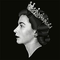 How to create Queen Elizabeth portrait in engraved style with WidthScribe tools in Adobe Illustrator