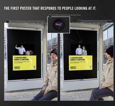 Deze reclame van Amnesty International zie je pas als er niemand naar kijkt. Duizenden mensen vonden het zo origineel dat ze er over schreven!