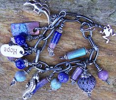 torch-fired enamel beads ~ bracelet inspiration piece