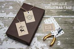 Christmas Gift Tags | Printable - livelaughrowe.com
