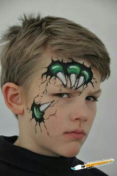 Cool monster face paint- will definitely try this out!