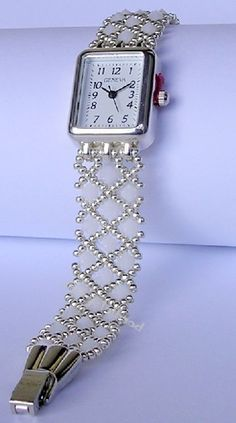 All sizes | White and Silver Swarovski Crystal strap watch | Flickr - Photo Sharing!