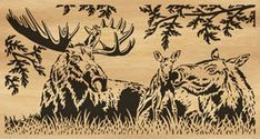 Scroll saw patterns | 035-mooses