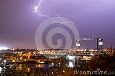 Spectacular storm shows it's power over the Thea Foss Waterway and the Murray Morgan Bridge