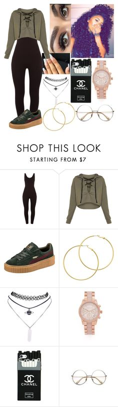 """Untitled #40"" by queen-gold on Polyvore featuring Puma, Melissa Odabash, Wet Seal, Michael Kors and Retrò"