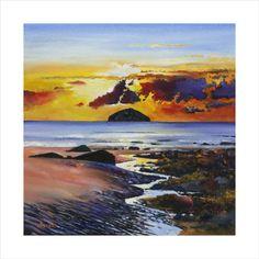Ailsa Craig Limited Edition - ART PRINT BY DAVY BROWN, SCOTTISH ARTIST.
