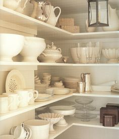 my china closet,   photograph by Simon Upton for China & Glass, featured on Tricia Foley Tastemaker Tag Sale, One Kings Lane